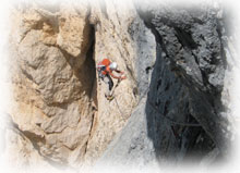 arrampicata in Dolomiti